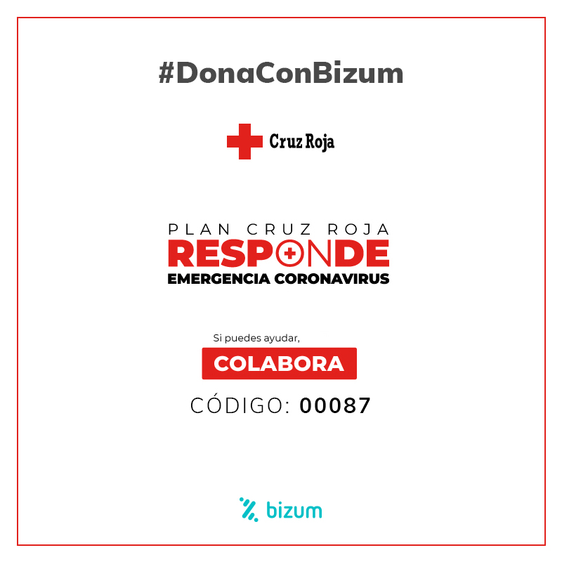 Emergencia coronavirus: Donaciones a través de Bizum