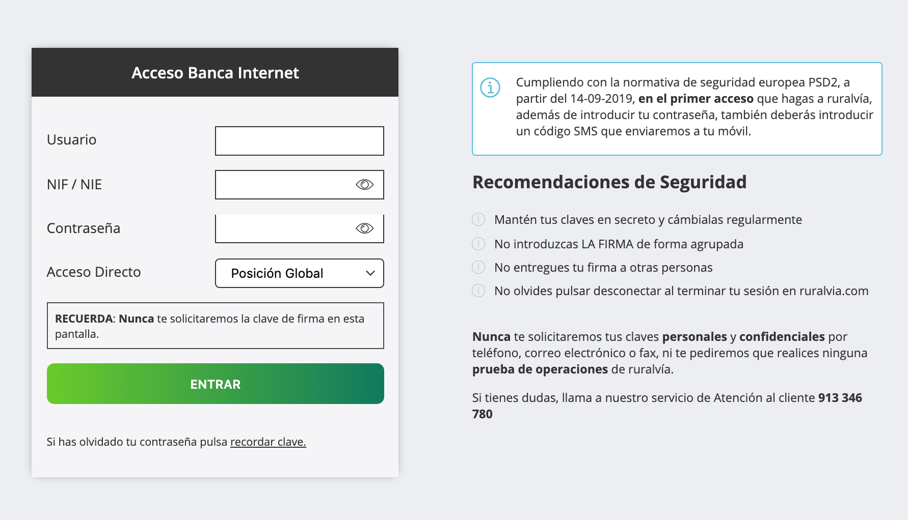 Accede a ruralvía, servicio de banca digital de Grupo Caja Rural