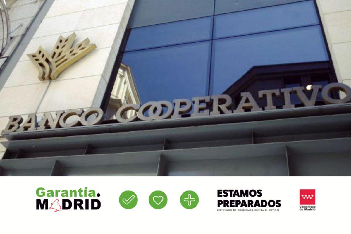 """Banco Cooperativo Español, recibe la certificación de la Comunidad de Madrid por """"buenas prácticas"""" ante el COVID-19"""
