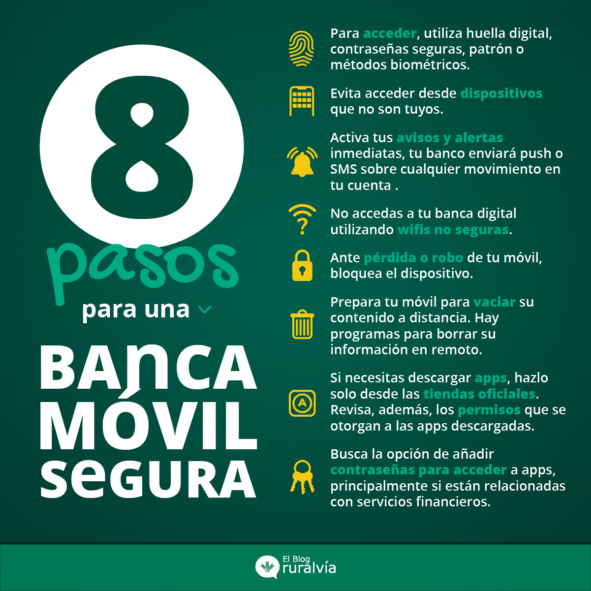 Prepara tu banca móvil para mantenerla segura